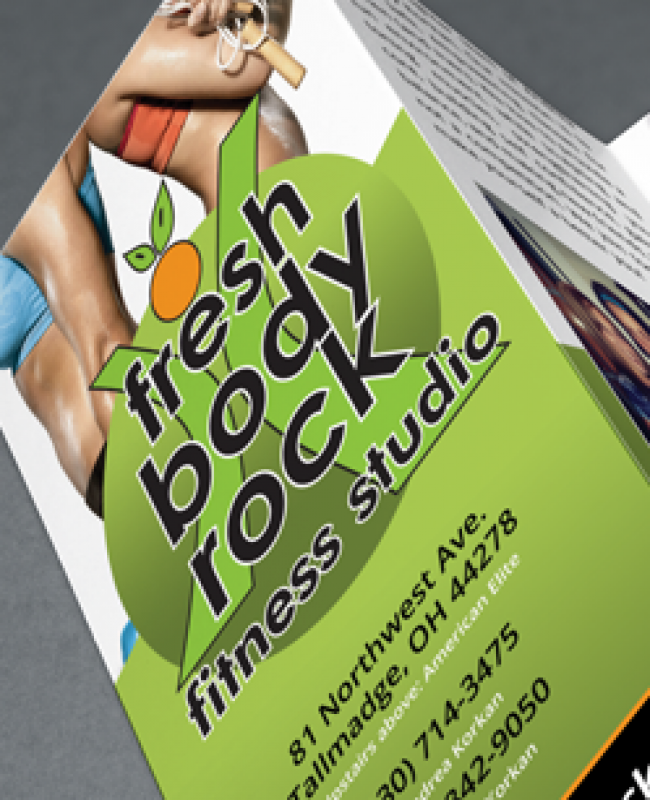 Fitness Gym Trifold Brochure Design