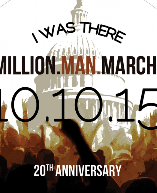 Million Man March Button Design